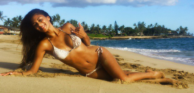 Nicole Scherinzger in a bikini